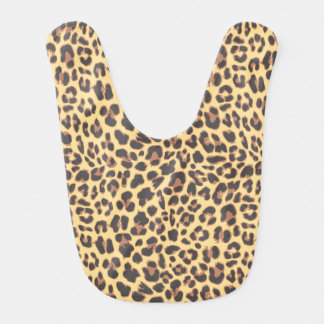 Leopard Print Animal Skin Patterns Bib