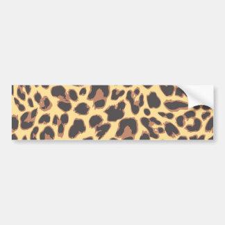Leopard Print Animal Skin Patterns Bumper Sticker