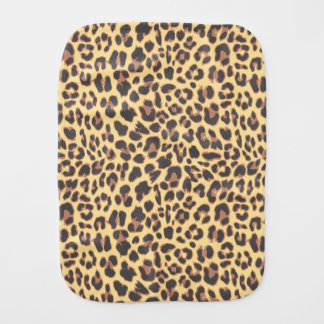 Leopard Print Animal Skin Patterns Burp Cloth