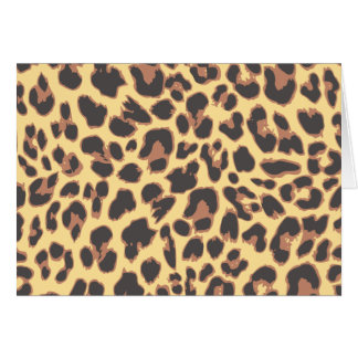 Leopard Print Animal Skin Patterns Card