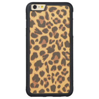 Leopard Print Animal Skin Patterns Carved Maple iPhone 6 Plus Bumper Case