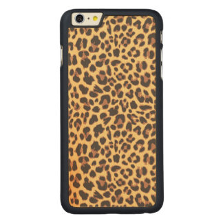 Leopard Print Animal Skin Patterns Carved Maple iPhone 6 Plus Case