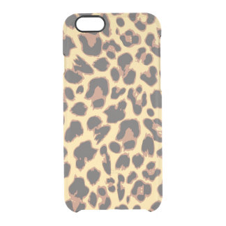 Leopard Print Animal Skin Patterns Clear iPhone 6/6S Case