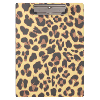 Leopard Print Animal Skin Patterns Clipboards