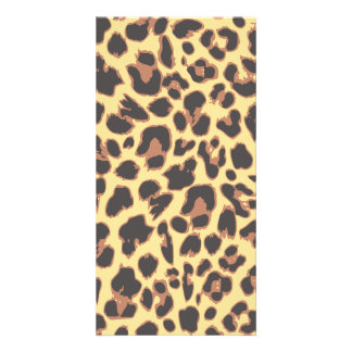 Leopard Print Animal Skin Patterns Customized Photo Card