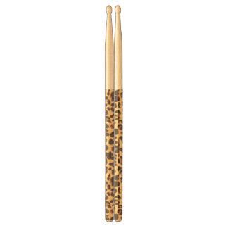 Leopard Print Animal Skin Patterns Drumsticks