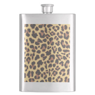 Leopard Print Animal Skin Patterns Flasks
