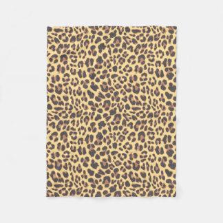 Leopard Print Animal Skin Patterns Fleece Blanket
