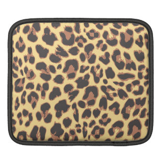 Leopard Print Animal Skin Patterns iPad Sleeve