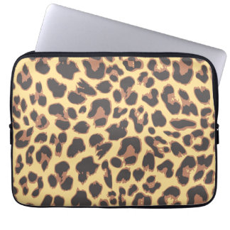 Leopard Print Animal Skin Patterns Laptop Sleeve