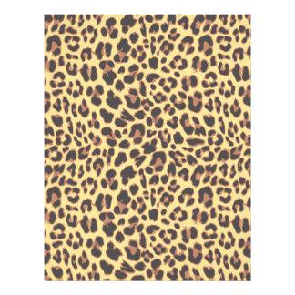 Leopard Print Animal Skin Patterns Letterhead