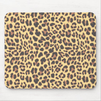 Leopard Print Animal Skin Patterns Mouse Pad