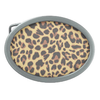 Leopard Print Animal Skin Patterns Oval Belt Buckle