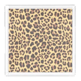 Leopard Print Animal Skin Patterns Perfume Tray