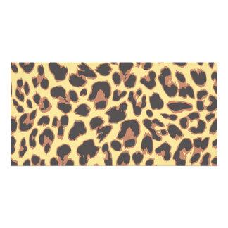 Leopard Print Animal Skin Patterns Photo Greeting Card