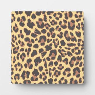 Leopard Print Animal Skin Patterns Plaque