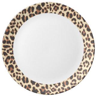 Leopard Print Animal Skin Patterns Plate