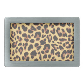 Leopard Print Animal Skin Patterns Rectangular Belt Buckle