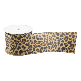 Leopard Print Animal Skin Patterns Satin Ribbon