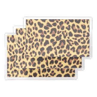 Leopard Print Animal Skin Patterns Serving Tray