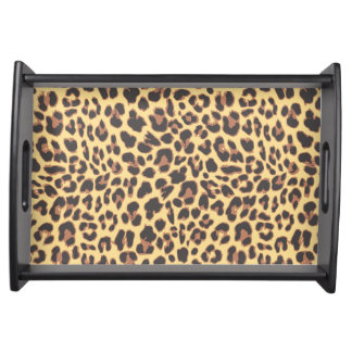 Leopard Print Animal Skin Patterns Serving Tray