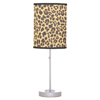 Leopard Print Animal Skin Patterns Table Lamp