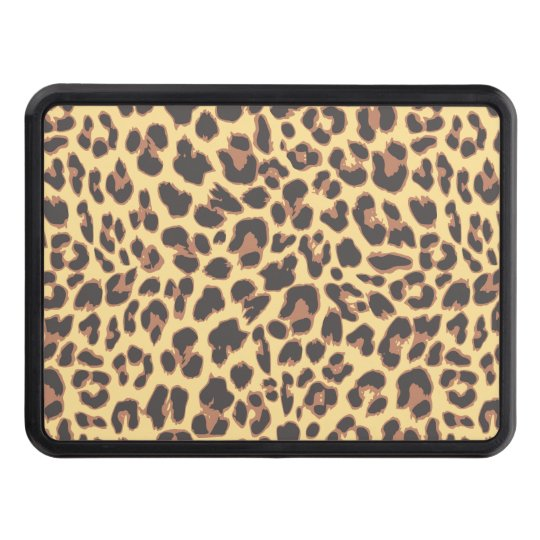 Leopard Print Animal Skin Patterns Trailer Hitch Cover