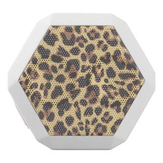 Leopard Print Animal Skin Patterns White Bluetooth Speaker