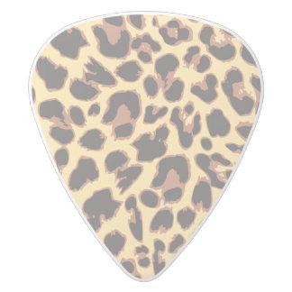 Leopard Print Animal Skin Patterns White Delrin Guitar Pick