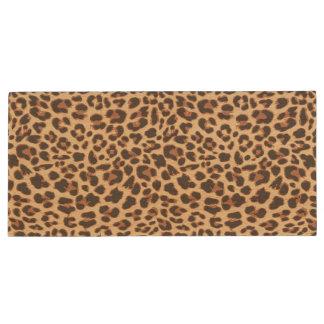 Leopard Print Animal Skin Patterns Wood USB 3.0 Flash Drive