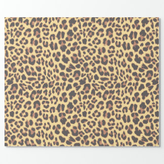 Leopard Print Animal Skin Patterns Wrapping Paper