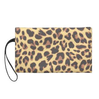 Leopard Print Animal Skin Patterns Wristlet Purse