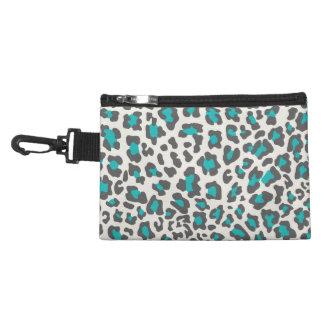 Leopard Print Aqua, Gray, White Accessory Bag