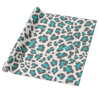 Leopard Print Aqua, Gray, White