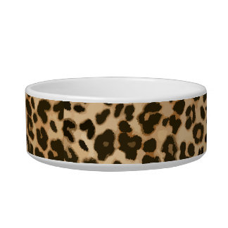 Leopard Print Background Bowl