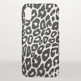 Leopard Print Background Changer Clear iPhone X Case