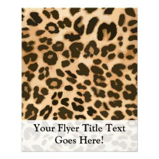 Leopard Print Background Full Color Flyer