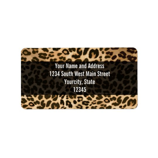 Leopard Print Background Label