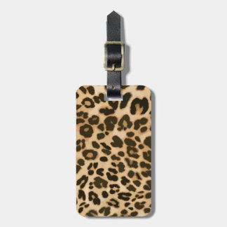 Leopard Print Background Luggage Tag
