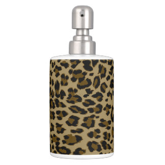 Leopard Print Bath Set