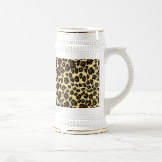 Leopard Print Beer Stein
