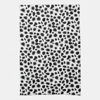 Leopard Print - Black and White Kitchen Towel