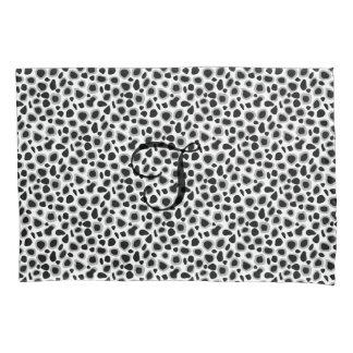 Leopard Print - Black and White Pillowcase