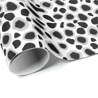 Leopard Print - Black and White Gift Wrapping Paper