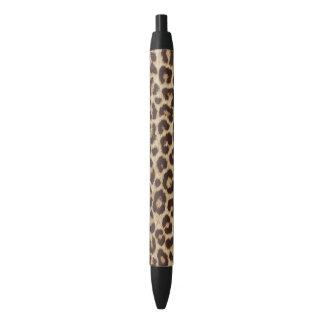 Leopard Print Black Ink Pen