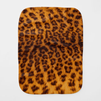 Leopard print black spotted Skin Texture Template Baby Burp Cloth