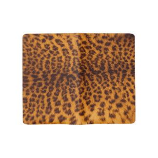 Leopard print black spotted Skin Texture Template Large Moleskine Notebook