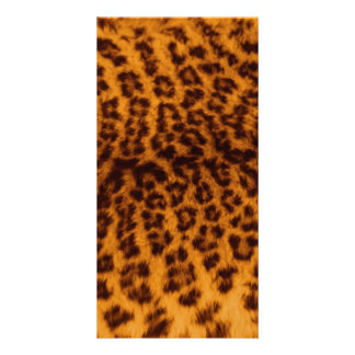Leopard print black spotted Skin Texture Template Photo Greeting Card