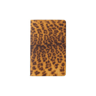 Leopard print black spotted Skin Texture Template Pocket Moleskine Notebook