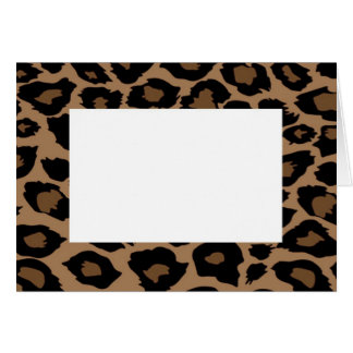 Leopard Print Border Note Card